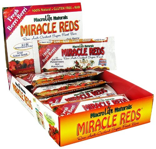 MacroLife Naturals MacroLife Naturals Miracle Reds Superfood Bar, 1.5 oz