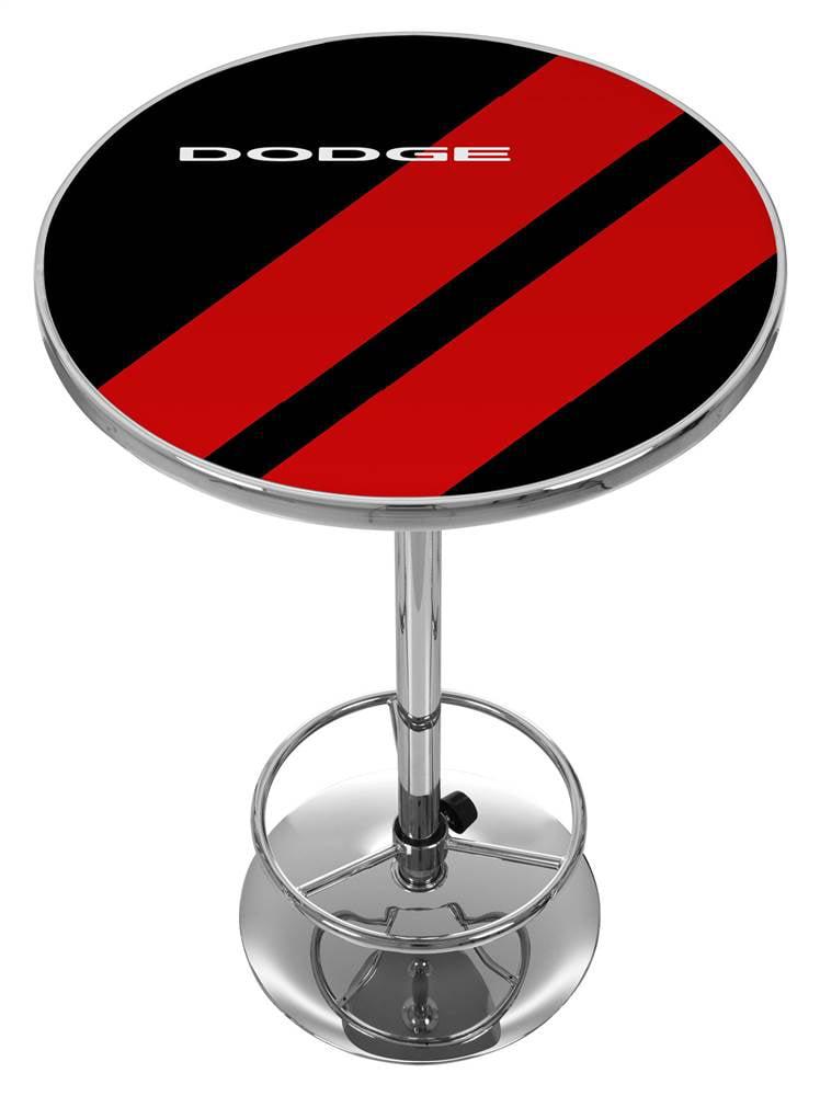 Dodge Big Stripe Logo Pub Table by Trademark Global