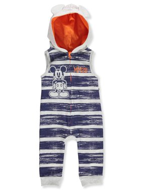 3ebaa2740 Product Image Disney Mickey Mouse Baby Boys' Hooded Coverall