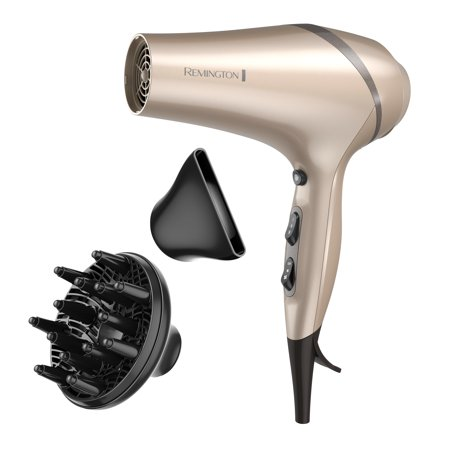Remington Pro Hair Dryer with Color Care Technology, Champagne/Gray, AC8A630