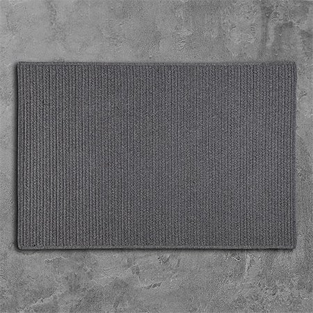 Colonial Mills Rug LS05R024X108S 2 x 9 ft. Sunbrella Solid Braided Rug  Granite - image 1 de 1