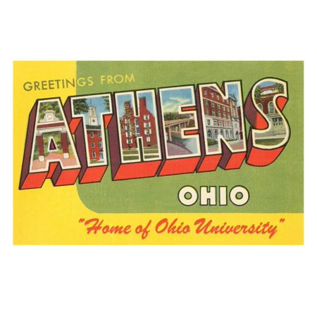 Halloween Athens Ohio (Greetings from Athens, Ohio Print Wall)