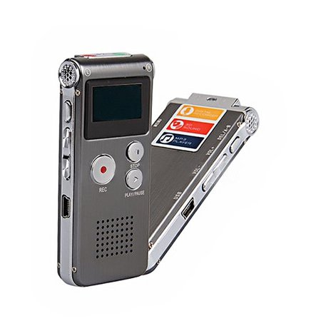 Portable 2-in-1 8GB LCD Digital Voice Recorder & MP3 Player with Speaker /External MIC /3.5mm Audio