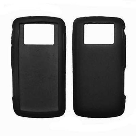 Premium Black Silicone Soft Rubber Skin Cover Case For Verizon Lg Versa Vx9600  Bulk Packaging