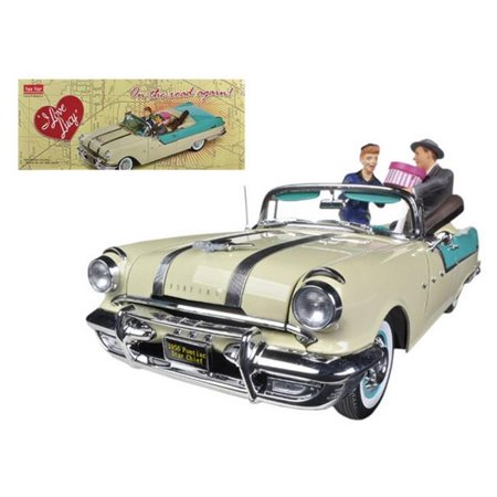 64 Pontiac Star - 1955 Pontiac Star Chief I Love Lucy On The Road Again with figurine 1/18 Diecast Car Model by Sunstar