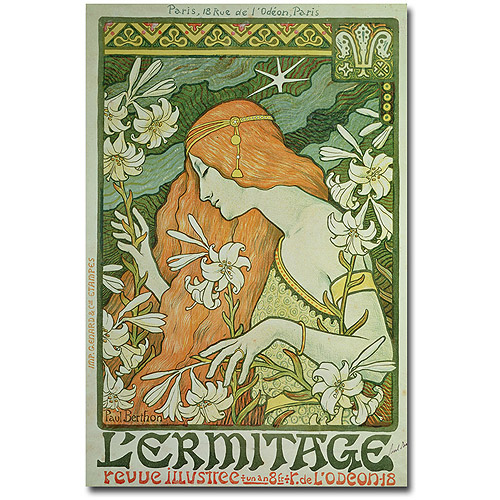 "Trademark Art ""L'Emitage, 1872"" Canvas Wall Art by Paul Brethon"
