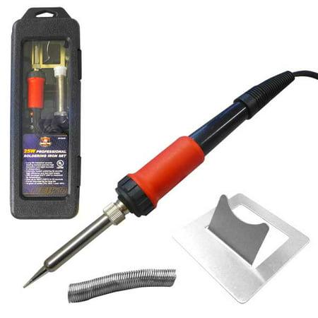 25 watt professional soldering iron set tool hobby pencil type. Black Bedroom Furniture Sets. Home Design Ideas