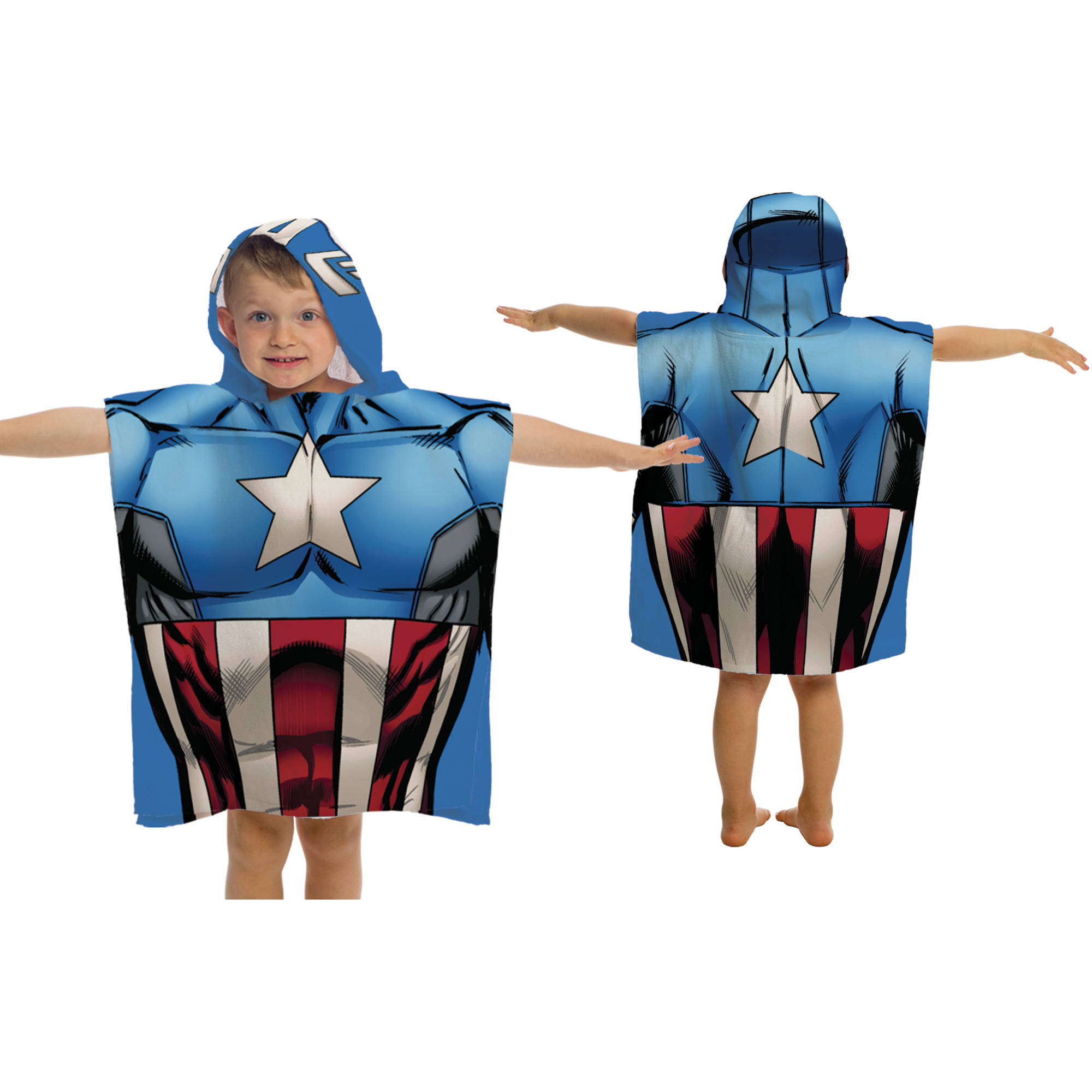 Marvel Captain America Character Hooded Towel
