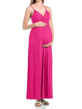 3ba9c440f5d20 Product Image Beachcoco Women's Maternity Sweetheart Party Maxi Dress (S,  Hot Pink)