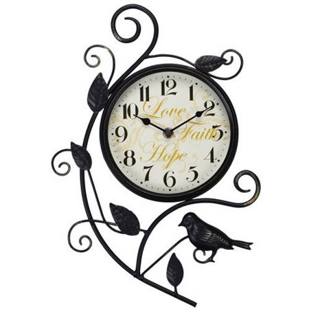Better Homes & Gardens 15.25u0022 Bird Wall Clock