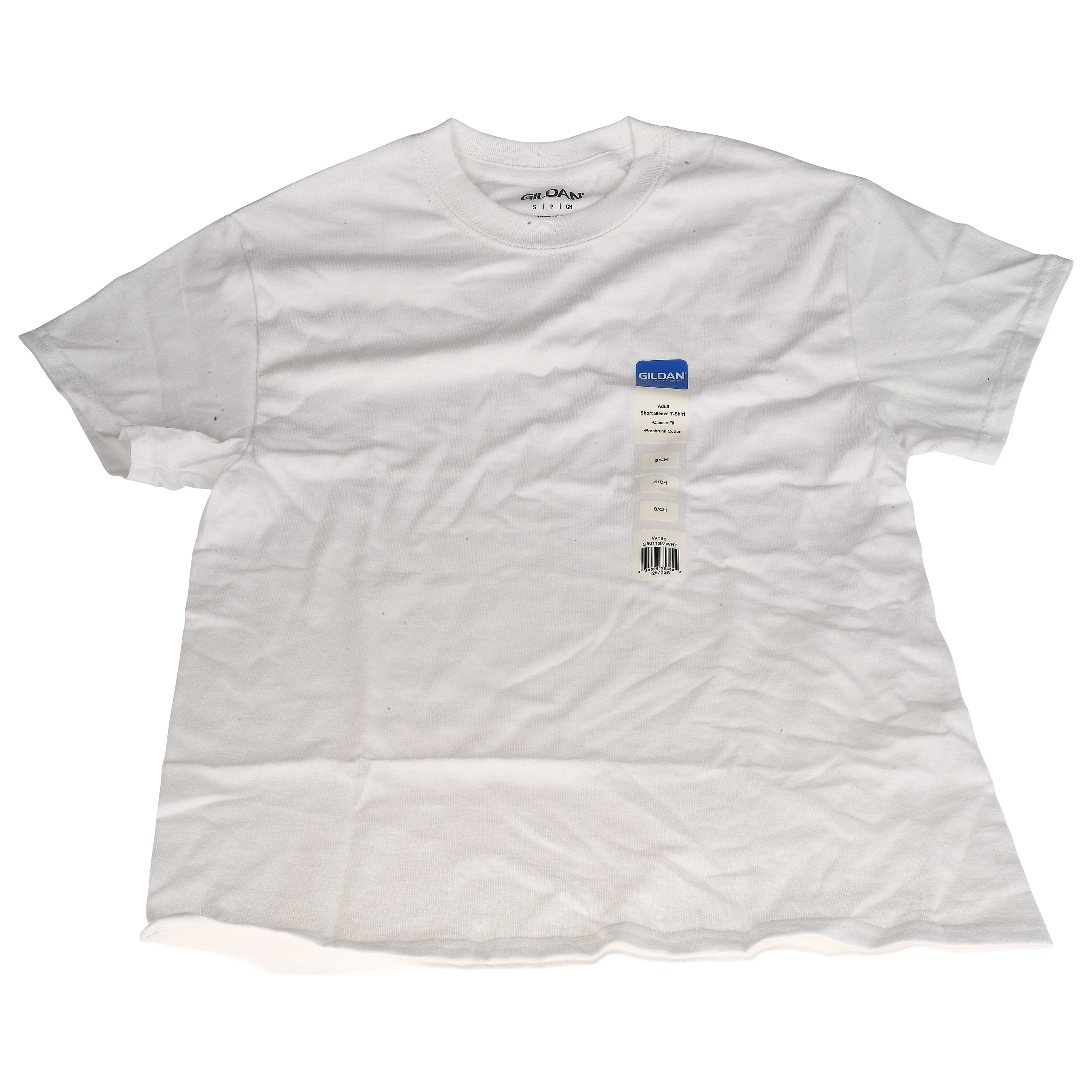 Gildan Small White Adult Short Sleeve T-Shirt, 1 Each