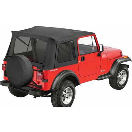 Bestop 545 Jeep Cj7/Wrangler with Tinted Windows Supertop Classic Replacement Top, Black Denim