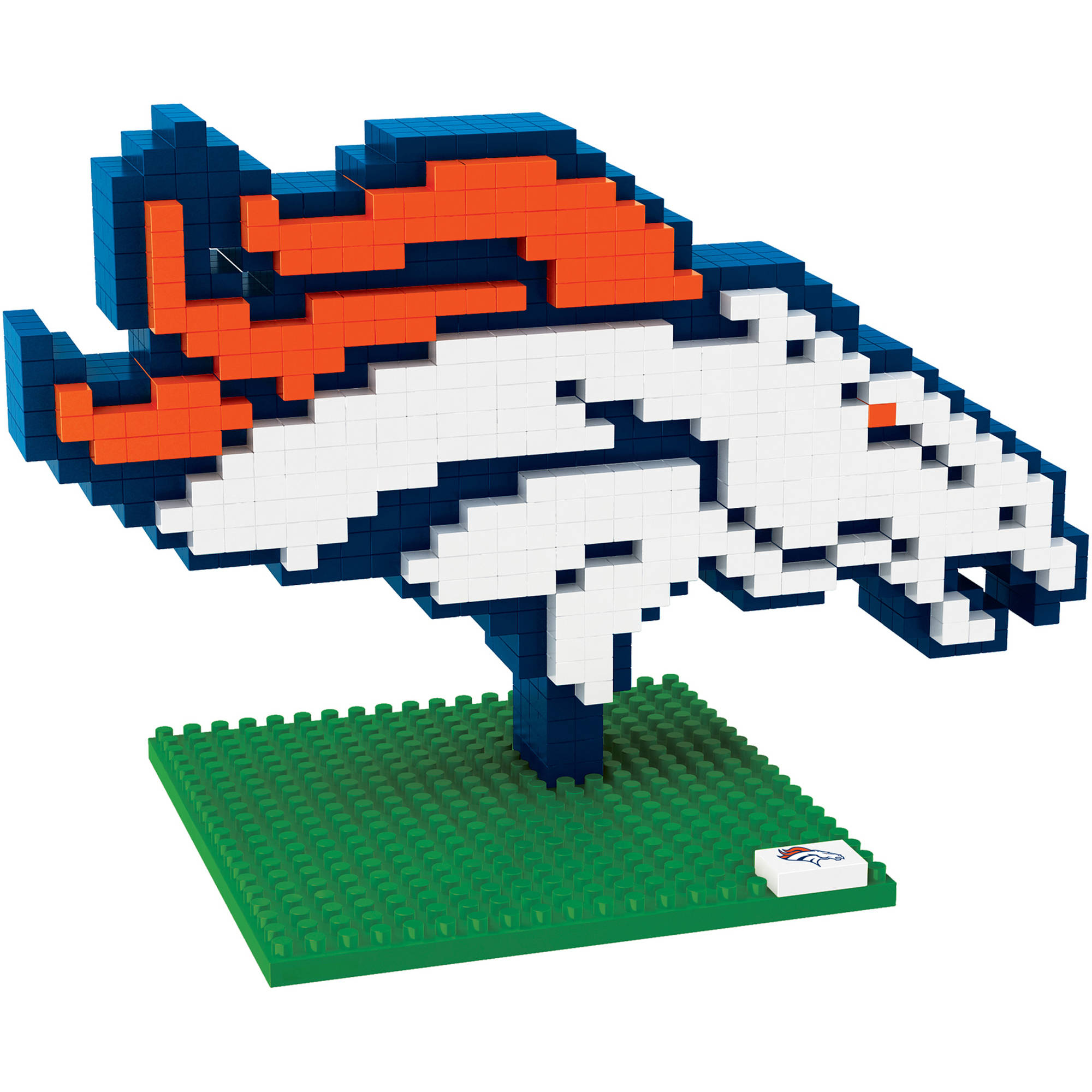 Forever Collectibles NFL 3D BRXLZ Logo Building Blocks, Denver Broncos