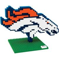 f0e388726ba Product Image Forever Collectibles NFL 3D BRXLZ Logo Building Blocks,  Denver Broncos