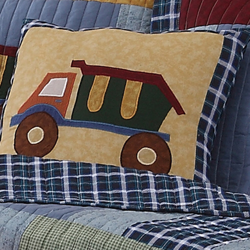 My World Construction Cotton Throw Pillow