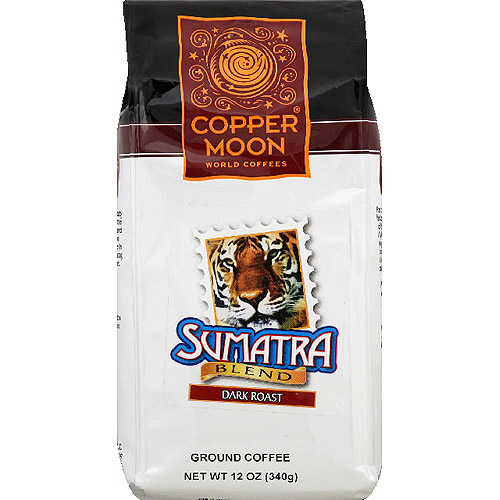Copper Moon Sumatra Blend Dark Roast Ground Coffee, 12 oz, (Pack of 6)