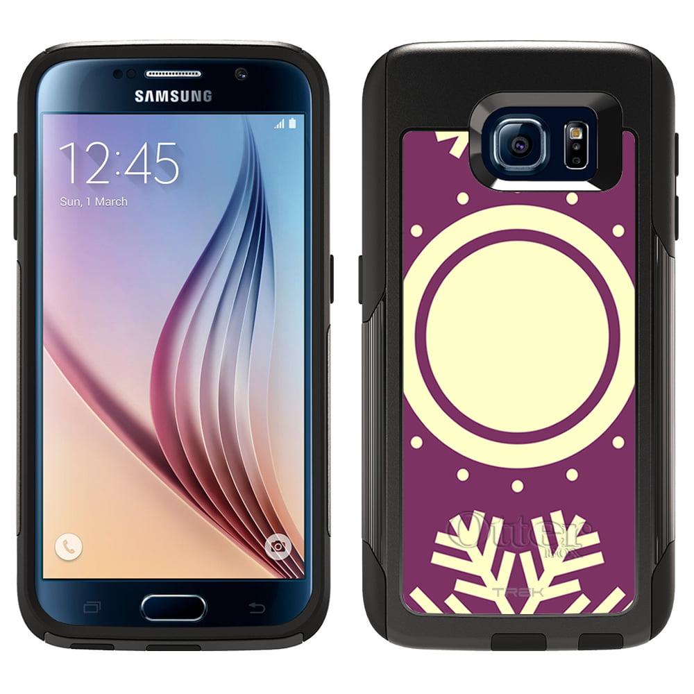 OtterBox Commuter Samsung Galaxy S6 Case - SnowFlakes on Purple Pattern OtterBox Case