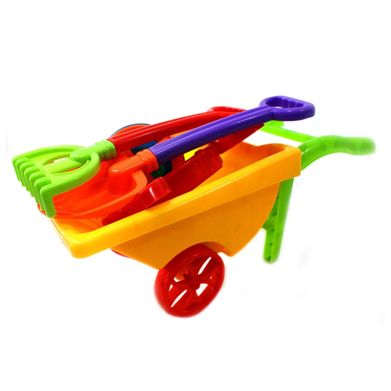 Click here to buy Beach Sand Toys Set Trolley Bucket Hand Tools Rake Shovel Sand Molds (Gift Idea).
