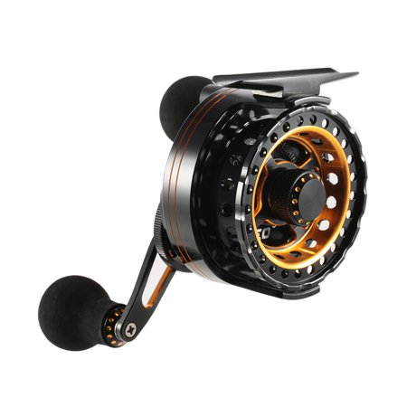 Super Smooth Sensitive 6+1 Ball Bearing 3.6:1 Gear Ratio Raft Fishing Reel Fly Reel Wheel Right/Left Hand Ice Fishing Reel Star Drag Fishing Tackles with Storage Pouch Disc Drag Fly Fishing Reel