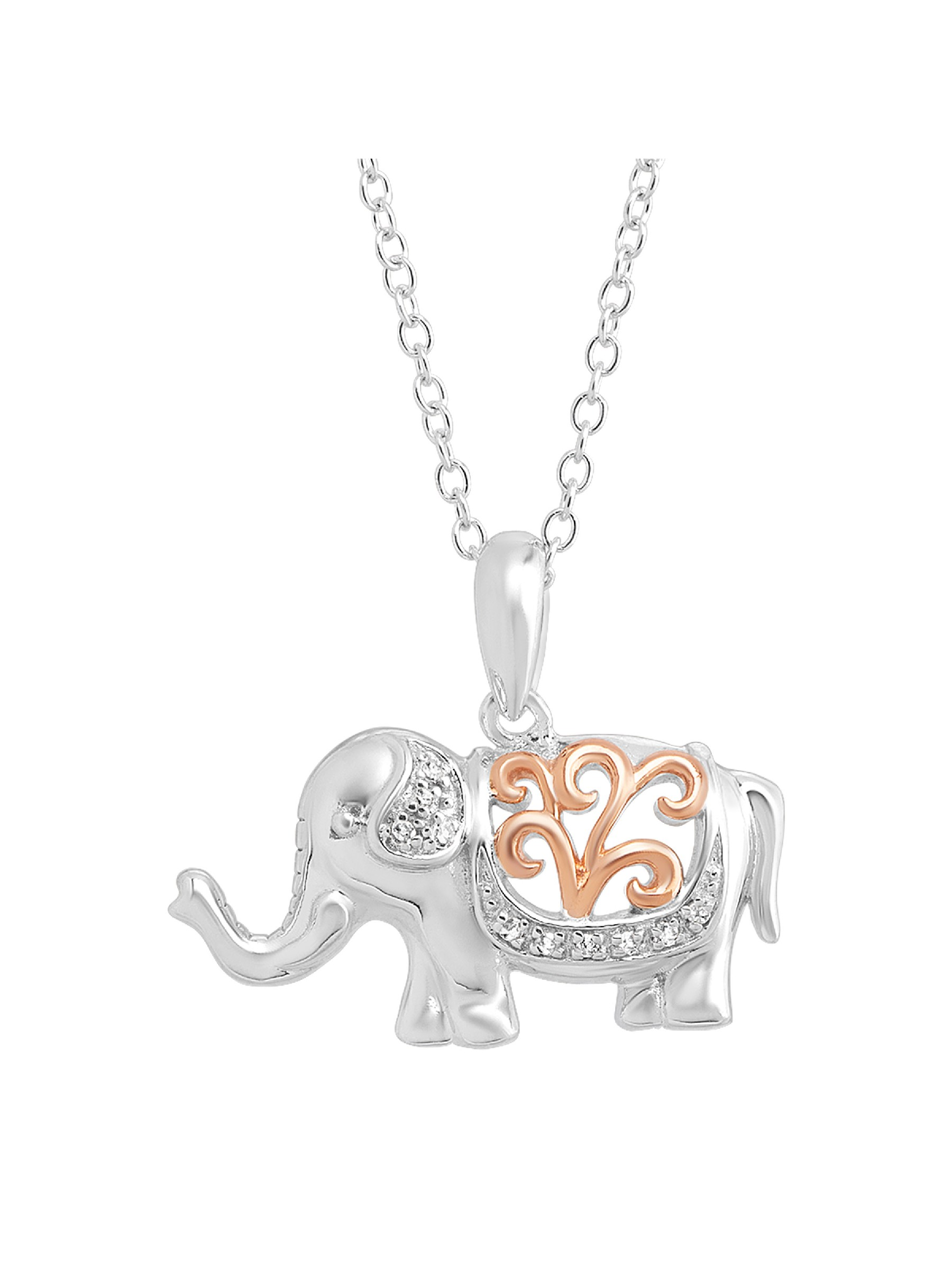 Elephant gifts Teen/'s Girl/'s Elephant Jewelry. woman/'s elephant necklace in sterling silver on an 18 sterling silver cable chain
