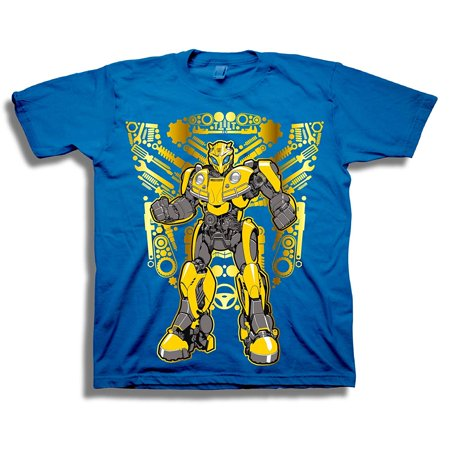 Transformers Little Bumblebee Movie Autobots Logo Boys T-Shirt, Royal, - Transformers Bumblebee T Shirt
