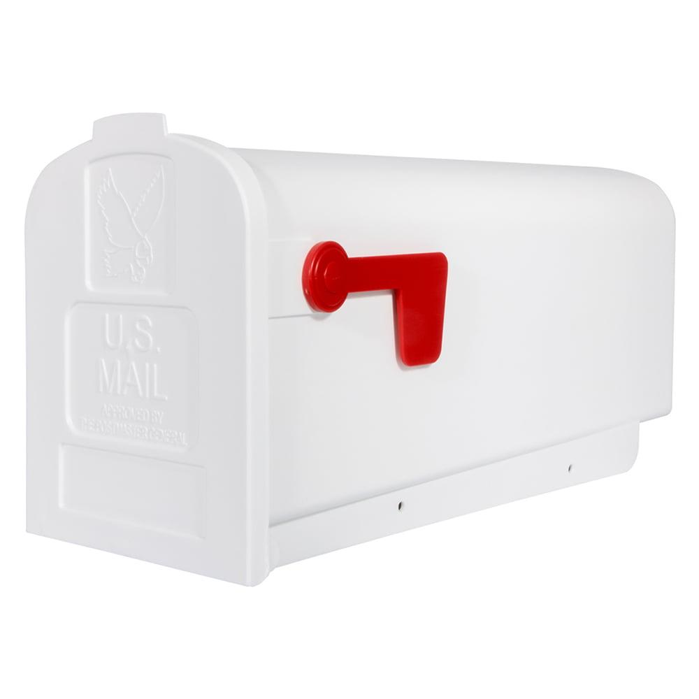 Solar Group Inc PL10W Plastic Rural White Mailbox