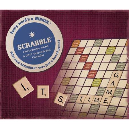 Scrabble Desk Calendar 2017 Word Puzzle Calendars By Acco Brands