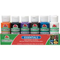 Apple Barrel 23773E Multi-surface Acrylic Craft Paint Set, Essentials, 2 fl oz, Set of 13