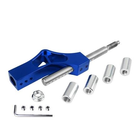 Adjustable Height Lever Car Gear Shift Knob Extender Shifter Extension Kit Blue Shifter Knob Kit