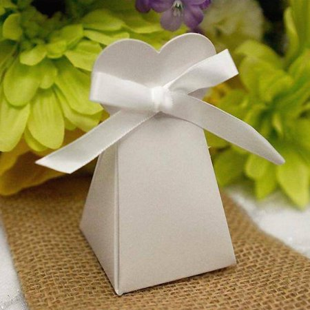 BalsaCircle White 100 Triangle Heart Wedding Party Favor Gift Boxes - Wedding Party Candy Gifts Decorations Supplies](Wedding Favor Box)
