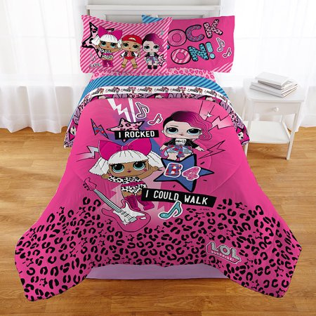 LOL Surprise Reversible Girls Twin Comforter & Sheets (4 Piece Bed in A Bag)](Ben Girl)