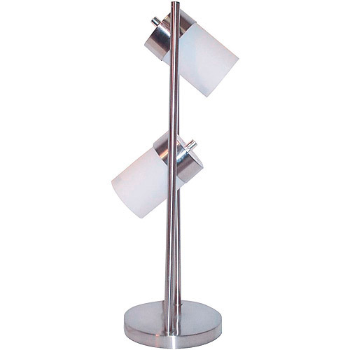 2-Light Adjustable Table Lamp, White