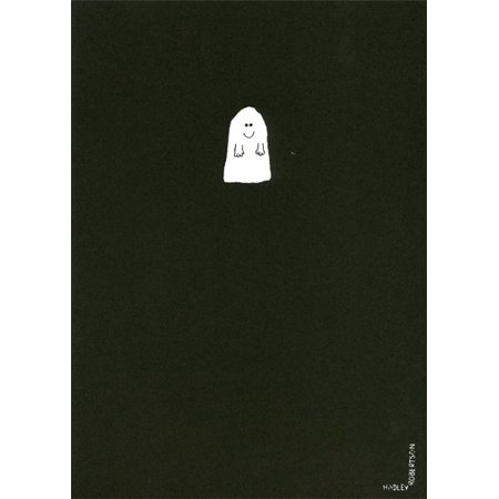 Recycled Paper Greetings Smiling Ghost Halloween Card](Halloween Crafts From Recycled Materials)