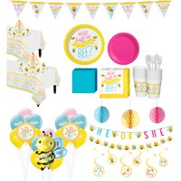 Ultimate Little Honey Bee Gender Reveal Party Kit for 32 Guests with Decorations
