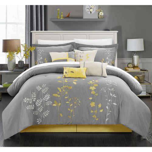 Chic Home Fortuno 12-Piece Embroidery Bedding Comforter Set