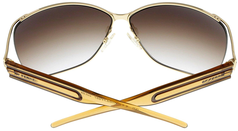 c3cda59678ea4 Gianfranco Ferre - Gianfranco Ferre Sunglasses Womens FF687 04 Shiny Gold  Rectangular Size: Lens/ Bridge/ Temple: 66-12-120 - Walmart.com