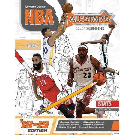 NBA All Stars 2018-2019 : The Ultimate Basketball Coloring and Activity Book for Adults and