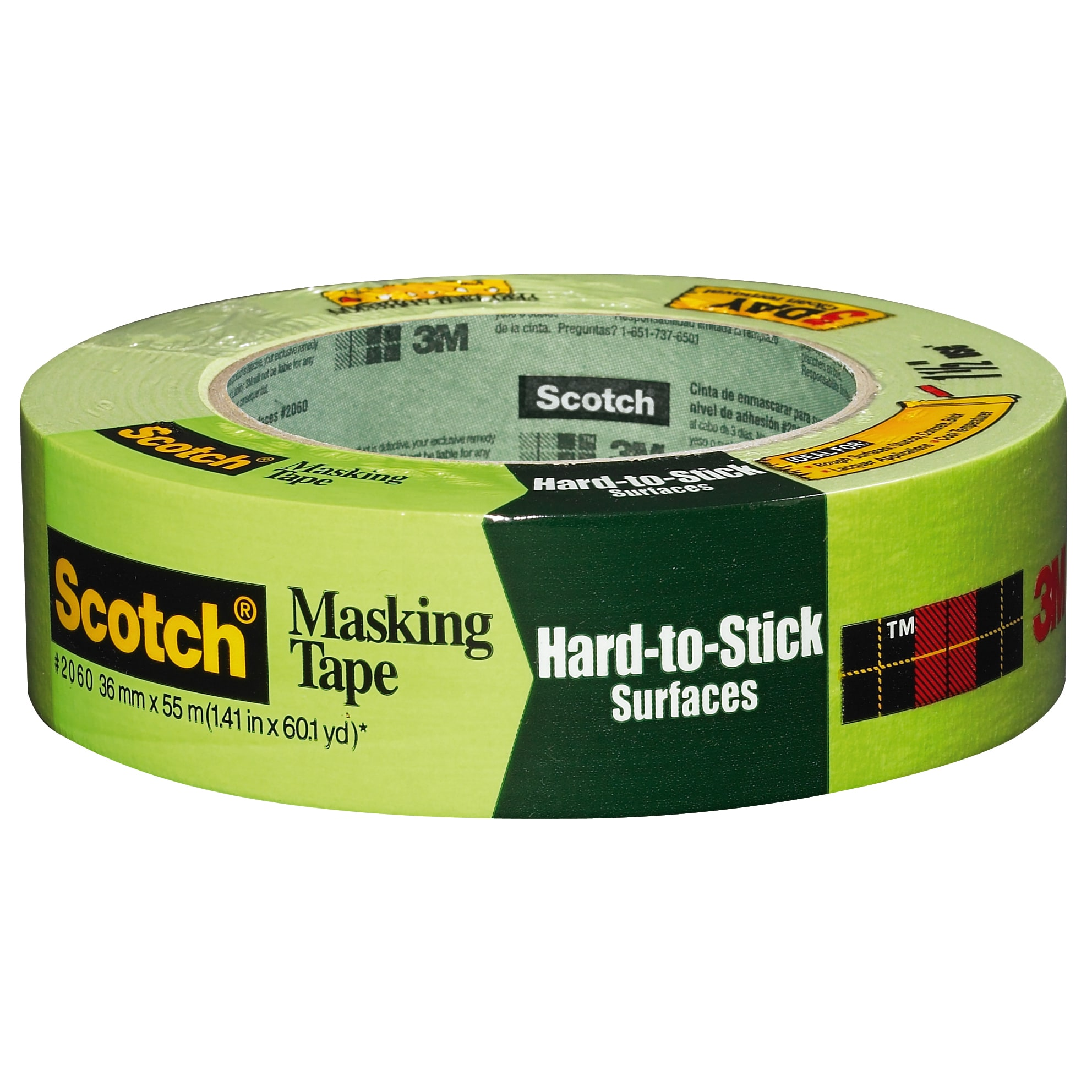 Scotch Rough Surface Extra Strength Masking Tape 2060 1.41 inch x 60 yard 1