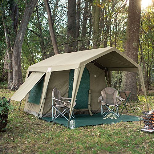 Bushtec Adventure Delta Zulu 3000 Canvas C&ing Tent and Outfitter Tent. Waterproof and fire retardant & Bushtec Adventure Delta Zulu 3000 Canvas Camping Tent and ...