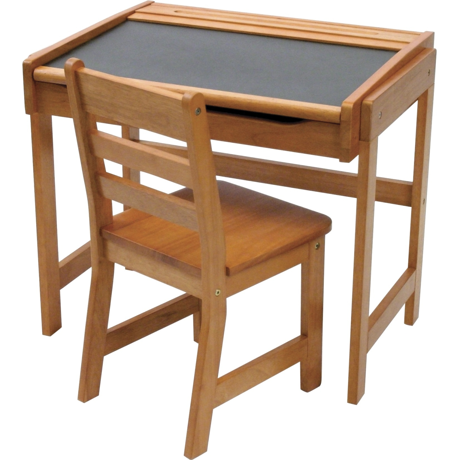 Desk With Chalkboard and Chair  Pecan Finish   Walmart com. School Desk And Chair Combo. Home Design Ideas