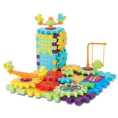 Interlocking Building Blocks and Gears 81 Pcs Construction Toy Set - Gear Toys