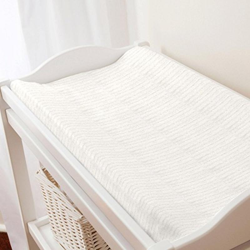 Carousel Natural Minky Chenille Changing Pad Cover