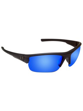 40071a72cf0a Product Image Under Armour 8600106-010161 propel satin black rubber gray  blue lens new