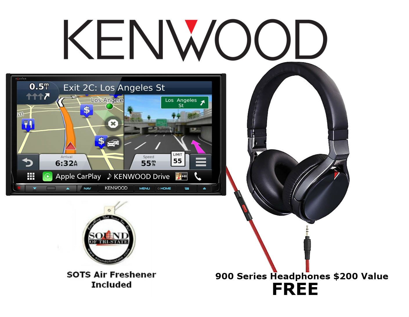 Kenwood Excelon DNX893S w  KH-KR900 (Factory Refurbished) Double Din Audio Video Navigation System with Bluetooth and HD... by Kenwood