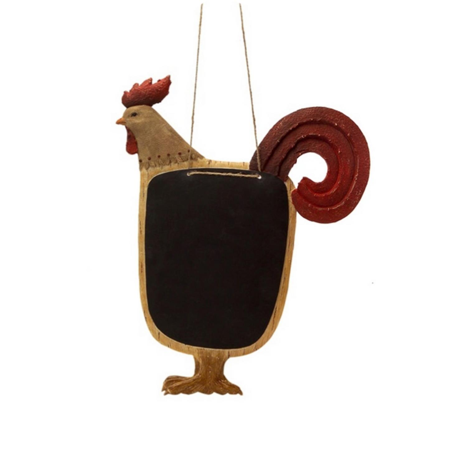 "Country Rustic Brown and Red Proud Rooster Hanging with Chalkboard 16"" - image 1 of 1"