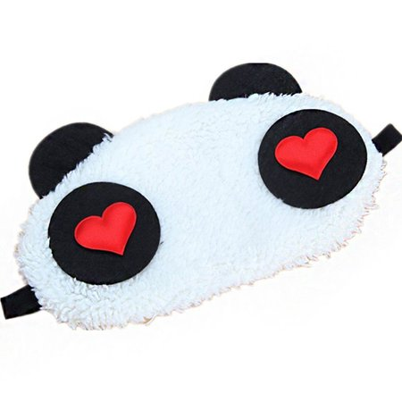 1x Lovely Panda Face Eye Travel Sleeping Mask Blindfold Cute Christmas
