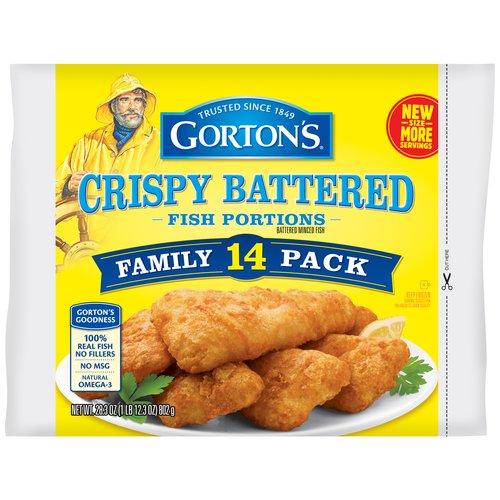 Gorton's Crispy Battered Fish Portions, 14 count, 28.3 oz