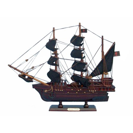 Ed Lows Rose Pink Pirate Ship 14 Wooden Pirate Ship Model Pirate Ship Pirate Ship Decoration Wood Pirate Ship Model Nautical Decoration