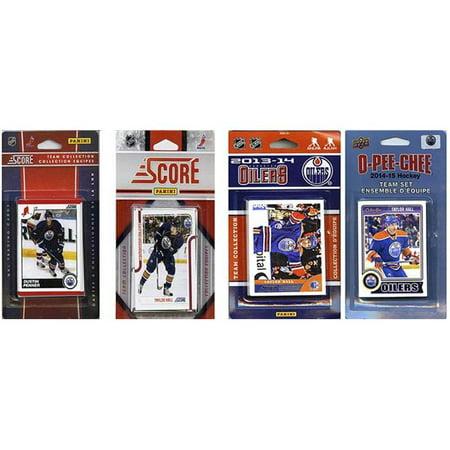 CandICollectables OILERS414TS NHL Edmonton Oilers 4 diff-rentes s-ries d'-quipes de cartes - collectionner licenci-es - image 1 de 1
