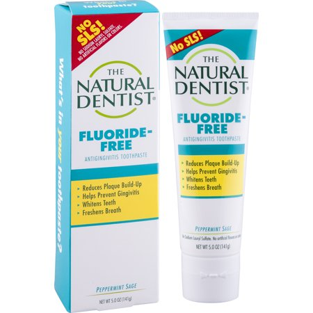 The Natural Dentist Fluoride-Free Toothpaste, Peppermint Sage, 5 Oz Tube